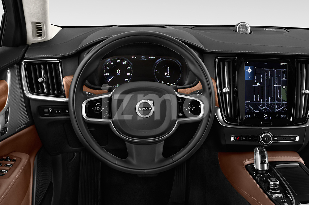 Car pictures of steering wheel view of a 2018 Volvo S90 Inscription PHEV T8 AWD 4 Door Sedan