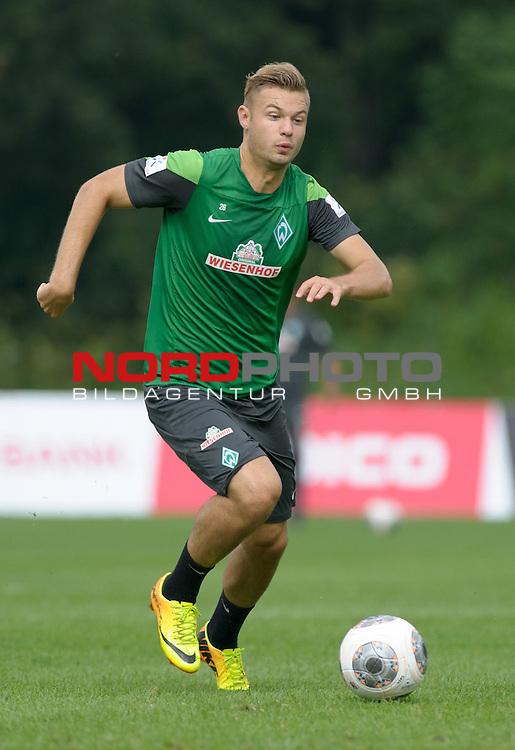 25.07.2013, Sportplatz, Blankenhain, GER, 1.FBL, Trainingslager Werder Bremen 2013, im Bild Florian Hartherz (Bremen #26)<br /> <br /> Foto &copy; nph / Frisch