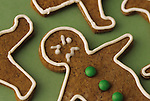 Gingerbread cookies with mad/angry faces, reacting to the hectic pace at Christmas/Holiday times, focus on faces, Marysville, Washington, USA