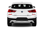 Straight rear view of a 2018 BMW X2 Base 5 Door SUV stock images