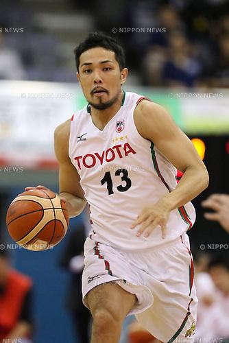 Shohei Kikuchi (ALVARK), <br /> MAY 7, 2016 - Basketball : <br /> National Basketball League &quot;NBL&quot; 2015-2016 <br /> between  Chiba Jets 54-83 TOYOTA ALVARK TOKYO <br /> at Funabashi Arena, Chiba, Japan. <br /> (Photo by AFLO SPORT)