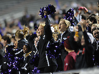 NWA Democrat-Gazette/ANDY SHUPE<br /> Fayetteville fans cheer against Har-Ber Saturday, Dec. 5, 2015, during the first half of the Class 7A state championship game at War Memorial Stadium in Little Rock. Visit nwadg.com/photos to see more photographs from the game.