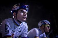 CX World Champion Wout Van Aert (BEL/Cibel-Cebon) at the start<br /> <br /> men's race<br /> 44th Superprestige Diegem (BEL) 2018<br /> ©kramon