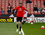 Chris Basham of Sheffield Utd warms up during the English League One match at Bramall Lane Stadium, Sheffield. Picture date: April 17th 2017. Pic credit should read: Simon Bellis/Sportimage