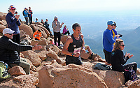 August 19, 2017 - Colorado Springs, Colorado, U.S. -  Colorado Springs runner, Ben Payne, nears the summit and a fourth place finish in the 62nd running of the Pikes Peak Ascent.  The Ascent is a full half-marathon gaining over 7800 feet in elevation to reach the summit at 14,115 feet.  Mountain runners from around the world converge on Pikes Peak for two days of racing on America's Mountain in Colorado Springs, Colorado.