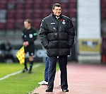 Hearts v St Johnstone....02.11.13     SPFL<br /> A smile from Tommy Wright<br /> Picture by Graeme Hart.<br /> Copyright Perthshire Picture Agency<br /> Tel: 01738 623350  Mobile: 07990 594431