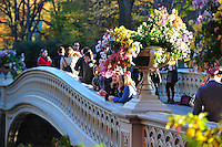 Nov. 12, 2010 - New York City, NY - Visitors enjoy a beautiful November afternoon on the Bow Bridge in Central Park  in New York City November 12, 2010. (Photo by Alan Greth)