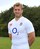 Drybrook, England. Chris Robshaw, the England captain poses during the official launch of the new season's England Canterbury kit at Drybrook Rugby Club on September 19, 2012 in Gloucester, England.