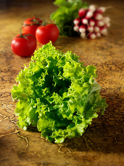 Fresh whole Batavia Lettuce