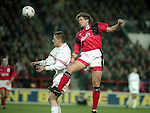 UEFA Cup - quarter final 2nd leg - Nottingham Forest v Bayern Munich - City Ground - Nottingham - England - 19th March 1996 - Picture Simon Bellis/Sportimage