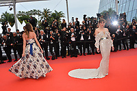 """CANNES, FRANCE. May 24, 2019: Christina Pitanguy & Milla Jovovich at the gala premiere for """"Sybil"""" at the Festival de Cannes.<br /> Picture: Paul Smith / Featureflash"""