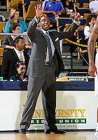 Florida International University Head Coach Isiah Thomas during the game plays against Coastal Carolina University.  FIU won the game 64-62 on November 26, 2011 at Miami, Florida. .