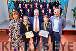 Attending the Caherleaheen Awards at the school on Monday.<br /> Mary Connelly (Principal), Caoimhe Sugrue, Sean Kelly MEP, Sarah Slattery and Sean Ryan (Aspen Grove).
