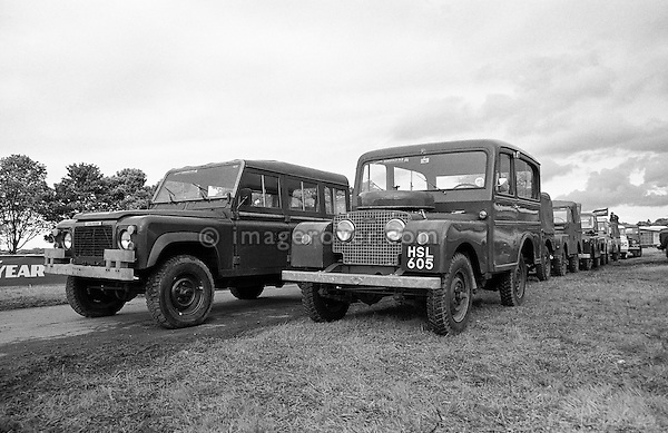 Original and unrestored 1949/50 Land Rover Series 1 80 inch Tickford Station Wagon, engine 1498cc petrol, registration HSL 605, chassis no. L06200409. Part of the Dunsfold Collection of Landrovers, Surrey, UK. No releases available. Automotive trademarks are the property of the trademark holder, authorization may be needed for some uses. --- Info: This is one of the Tickford 80 inch Station Wagons built 1949/50. This vehicle was sent when new to UNICEF in Finland with one other for delivery of mothers milk in 1950. After 10 years it was fitted with a PTO and had a large air compressor installed in the rear and lived in a quarry blowing up truck tyres. This is most likely the most original unrestored example around.
