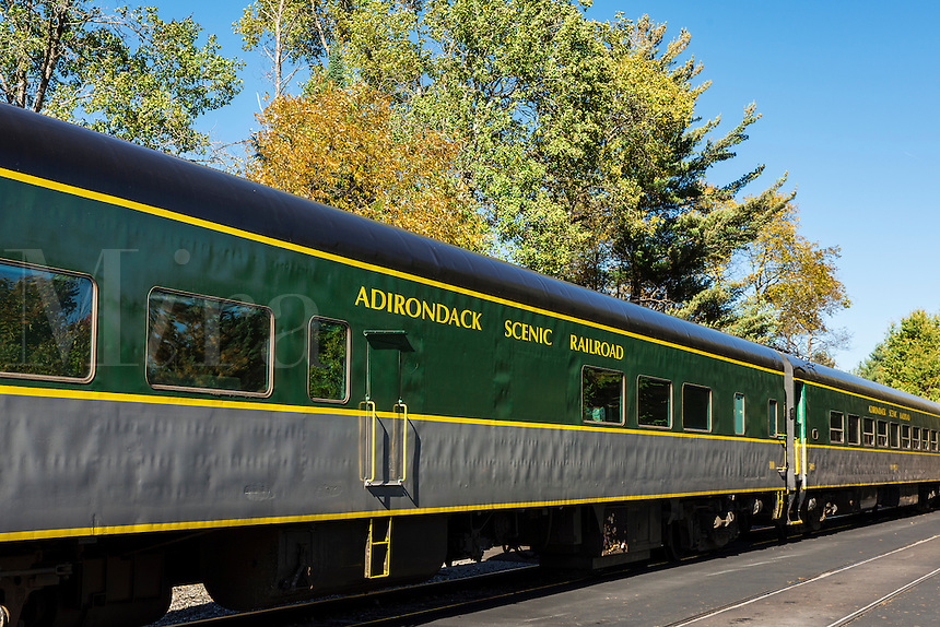 The Adirondack Scenic Railroad, Thendara, New York, USA.