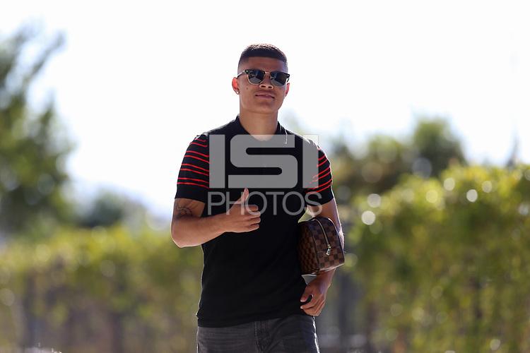 San Jose, CA - Saturday October 13, 2018: Eric Calvillo prior to a friendly match between the San Jose Earthquakes and Cruz Azul at Avaya Stadium.
