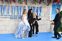 Lily James, Cher, Amanda Seyfried &amp; Ol Parker arriving for the &quot;Mama Mia! Here We Go Again&quot; world premiere at the Eventim Apollo, Hammersmith, London, UK. <br /> 16 July  2018<br /> Picture: Steve Vas/Featureflash/SilverHub 0208 004 5359 sales@silverhubmedia.com