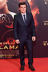 """US actor Josh Hutcherson poses for the photographers during the Spain premiere of the movie """"The Hunger Games: Catching Fire"""" at Callao Cinema in Madrid, Spain. November 13, 2013. (ALTERPHOTOS/Victor Blanco)"""