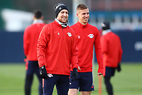 9th March 2020, Red Bull Arena, Leipzig, Germany; RB Leipzig press confefence and training ahead of their Champions League match versus Tottenham Hotspur on 10th March 2020; Emil Forsberg 10, RB Leipzig and Dani Olmo 25, RB Leipzig