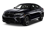 2020 BMW X6-M Competition 5 Door SUV Angular Front automotive stock photos of front three quarter view
