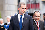 King Felipe VI of Spain arrives to Teatro Campoamor for Princess of Asturias Awards 2019 in Oviedo. October 18, 2019 (Alterphotos/ Francis Gonzalez)