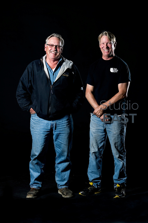 Ron Knarr (right) and Jerry Kent. Pier 7, November 9, 2011. Photo by Lucas Schifres/Pictobank