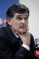Osasuna's coach Jose Luis Mendilibar in press conference after La Liga match.December 15,2012. (ALTERPHOTOS/Acero) /NortePhoto