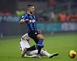 Cristiano Biraghi of Inter is fouled by Hans Hateboer of Atalanta during the Serie A match at Giuseppe Meazza, Milan. Picture date: 11th January 2020. Picture credit should read: Jonathan Moscrop/Sportimage
