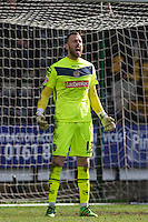 Goalkeeper Scott Loach of Notts County gives instructions during the Sky Bet League 2 match between Notts County and Wycombe Wanderers at Meadow Lane, Nottingham, England on 28 March 2016. Photo by Andy Rowland.