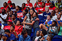 Washington, DC - August 31, 2018: Washington Mystics analyst Christy Winters-Scott is in the crowd during semi finals playoff game between Atlanta Dream and Wasington Mystics at the Charles Smith Center at George Washington University in Washington, DC. (Photo by Phil Peters/Media Images International)
