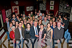 RUBY SURPRISE: Kevin and Kathleen Galvin, Lixnaw (front centre) both got a giant surprise when they went to O'Donnell's bar and restaurant, Tralee last Saturday night to celebrate their 40th wedding anniversary only to find a massive crowd of family and friends waiting inside to celebrate with them.