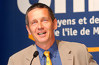 Undated  2001, Montreal, Quebec, Canada; <br /> Loyola candidate for  (Gerald Tremblay party) Union des Citoyens ;  Jeremy Searle during the Montreal municipal electoral campaign.<br /> <br /> Jeremy Searle is well known in Montreal as a staunch defender of the cityís heritage. In 1984, he formed the ¿ líaction MontrÈal group which successfully fought the construction of an office building that would have closed McGill College Avenue at Ste. Catherine Street. He also led a campaign to save buildings with historic and architectural value from demolition in the Crescent/De Maisonneuve/Bishop/Sherbrooke block.<br /> <br /> <br /> Tremblay defeated opponent Pierre Bourque on November 4th 2001<br /> <br /> <br /> (Mandatory Credit: Photo by Sevy - Images Distribution (©) Copyright 2001 by Sevy<br /> <br /> NOTE :  D-1 H original JPEG, saved as Adobe 198 RGB