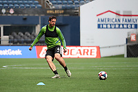 SEATTLE, WA - NOVEMBER 9: Gustav Svensson #4 of the Seattle Sounders FC plays the ball at CenturyLink Field on November 9, 2019 in Seattle, Washington.