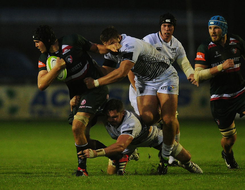 Photographer Kevin Barnes/CameraSport<br /> <br /> Rugby Union Friendly - Ospreys v Leicester Tigers - Friday 11th August 2017 - Brewery Field - Bridgend<br /> <br /> World Copyright &copy; 2017 CameraSport. All rights reserved. 43 Linden Ave. Countesthorpe. Leicester. England. LE8 5PG - Tel: +44 (0) 116 277 4147 - admin@camerasport.com - www.camerasport.com