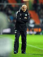 FUSSBALL   1. BUNDESLIGA    SAISON 2012/2013    14. Spieltag   SV Werder Bremen - Bayer 04 Leverkusen                28.11.2012 Trainer Thomas Schaaf (SV Werder Bremen) ist enttaeuscht
