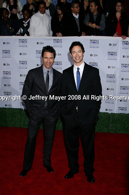 LOS ANGELES, CA. - January 07: Actors Eric McCormack and Tom Cavanagh arrive at the 35th Annual People's Choice Awards held at the Shrine Auditorium on January 7, 2009 in Los Angeles, California.
