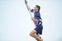 FIERLJEPPEN: IJLST: 02-07-2014, Winnaar Oane Galama 20.78m, ©foto Martin de Jong