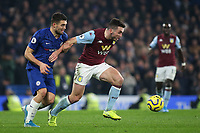 Mateo Kovacic of Chelsea pulls back Aston Villa's John McGinn during Chelsea vs Aston Villa, Premier League Football at Stamford Bridge on 4th December 2019