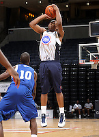 Tracy Abrams at the NBPA Top100 camp at the John Paul Jones Arena Charlottesville, VA. Visit www.nbpatop100.blogspot.com for more photos. (Photo © Andrew Shurtleff)