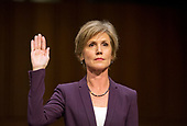 "Former Acting Attorney General of the United States Sally Q. Yates is sworn-in to testify before the US Senate Committee on the Judiciary Subcommittee on Crime and Terrorism hearing titled ""Russian Interference in the 2016 United States Election"" on Capitol Hill in Washington, DC on Monday, May 8, 2017.<br /> Credit: Ron Sachs / CNP<br /> (RESTRICTION: NO New York or New Jersey Newspapers or newspapers within a 75 mile radius of New York City)"