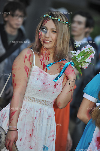 October 27th, 2013, Kanagawa, Japan: Street parade of the 17th Halloween event in Kawasaki, Japan. (Photo by Kjeld Duits/AFLO)
