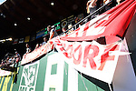 06 August 2014: Bayern Munich fans hang banners in the stadium shortly after the gates are opened to the public. The Major League Soccer All-Stars played Bayern Munich of the German Bundesliga at Providence Park in Portland, Oregon in the 2014 MLS All-Star Game.