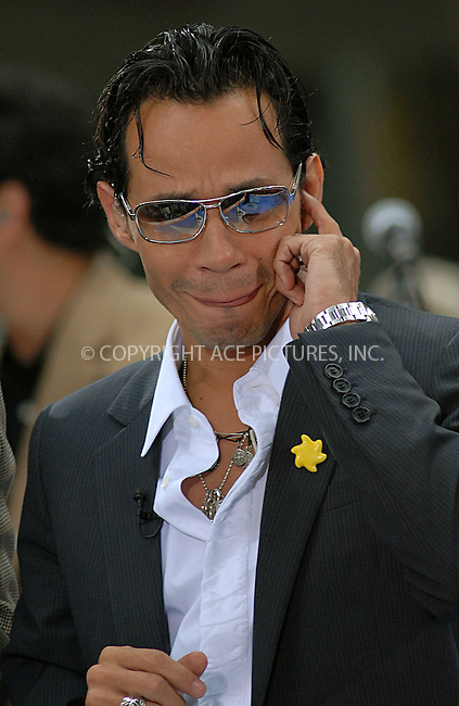 WWW.ACEPIXS.COM . . . . .....July 27, 2007. New York City....Singer Marc Anthony performs on 'The Today Show' at Rockefeller Plaza in New York City...  ....Please byline: Kristin Callahan - ACEPIXS.COM..... *** ***..Ace Pictures, Inc:  ..Philip Vaughan (646) 769 0430..e-mail: info@acepixs.com..web: http://www.acepixs.com