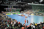 Leipzig, Germany, February 08: before the men gold medal match between The Netherlands(orange) and Austria (white) on February 8, 2015 at the FIH Indoor Hockey World Cup at Arena Leipzig in Leipzig, Germany. Final score 3-2 (2-1). (Photo by Dirk Markgraf / www.265-images.com) *** Local caption ***