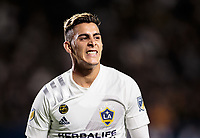 CARSON, CA - MARCH 07: Cristian Pavon #10 of the Los Angeles Galaxy during a game between Vancouver Whitecaps and Los Angeles Galaxy at Dignity Health Sports Park on March 07, 2020 in Carson, California.