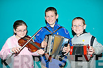 MUSICIANS: Just some of the large group of Musicians who gathered at Tralee IT for Sult na nOg on Saturday l-r: Sabina O'Donoghue and Darragh and Tadhg O? Siochru? all form Tuosist.