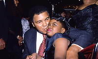 Washington DC undated <br /> Boxing legend Muhammad Ali with his daughter Laila. Credit: Mark Reinstein/MediaPunch