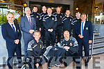 The Kerry Soccer Referees receiving tracksuits from the Rose Hotel<br /> Kneeling l to r: Denny O'Rourke and Daniel Quirke.<br /> Back l to r: Owen Moynihan (Secretary), Mark O'Sullivan (Rose Hotel), Anthony Morrisson, Tom Sheehy, Seamus O'Mahony, Tom O'Sullivan, Paddy Osbourne, Brendan Kelly and John Ross (Chairman).