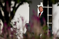U.S. President Donald Trump walks toward Oval Office of the White House after leading a moment of silence in remembrance of those lost during the September 11, 2001 terrorist attacks, in Washington, D.C., U.S., on Monday, Sept. 11, 2017. Trump is presiding over his first 9/11 commemoration on the 16th anniversary of the terrorist attacks that killed nearly 3,000 people when hijackers flew commercial airplanes into New York&Igrave;s World Trade Center, the Pentagon and a field near Shanksville, Pennsylvania. <br /> CAP/MPI/CNP/RS<br /> &copy;RS/CNP/MPI/Capital Pictures