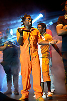 CORAL GABLES, FL - AUGUST 10: Kodak Black performs on stage at his Homecoming Concert first show since getting home from jail in June at Watsco Center on August 10, 2017 in Coral Gables, Florida.  Credit: MPI10 / MediaPunch